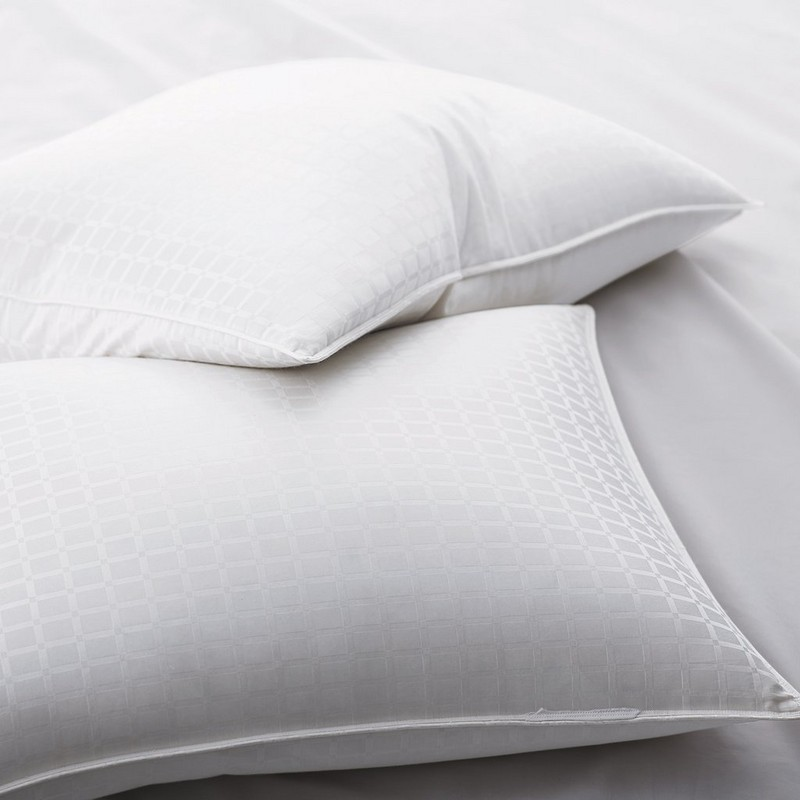 90% белые гусиные пуховые подушки с 1 '' узором оконного стекла