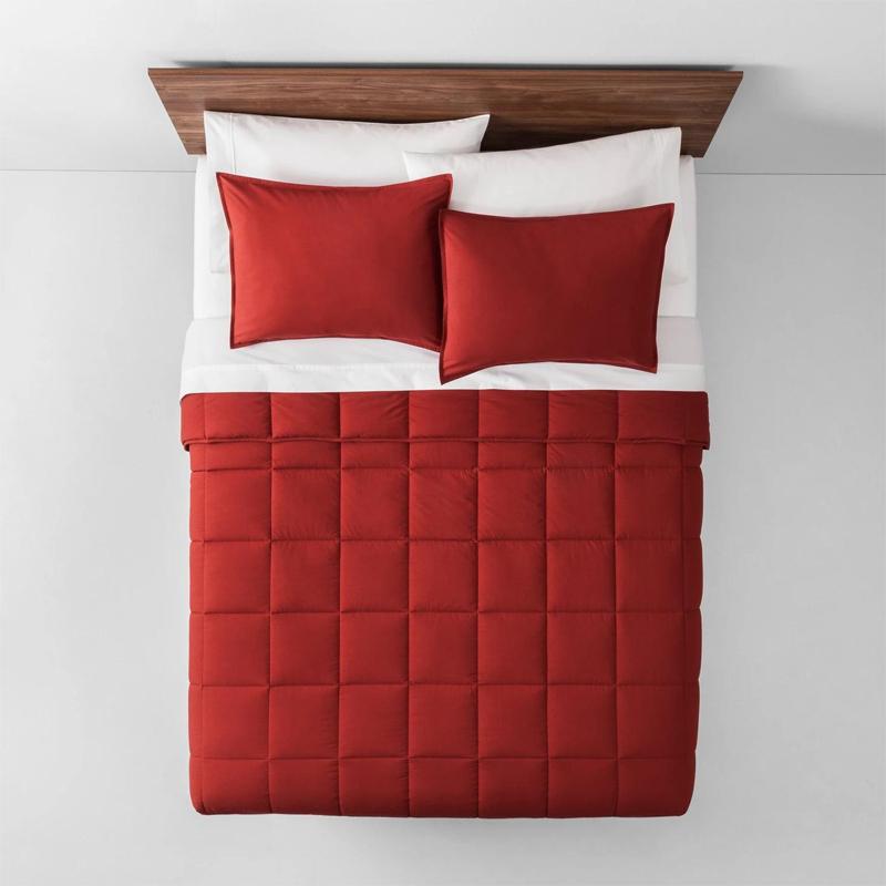 Сплошной цвет стеганый одеяло из полого волокна