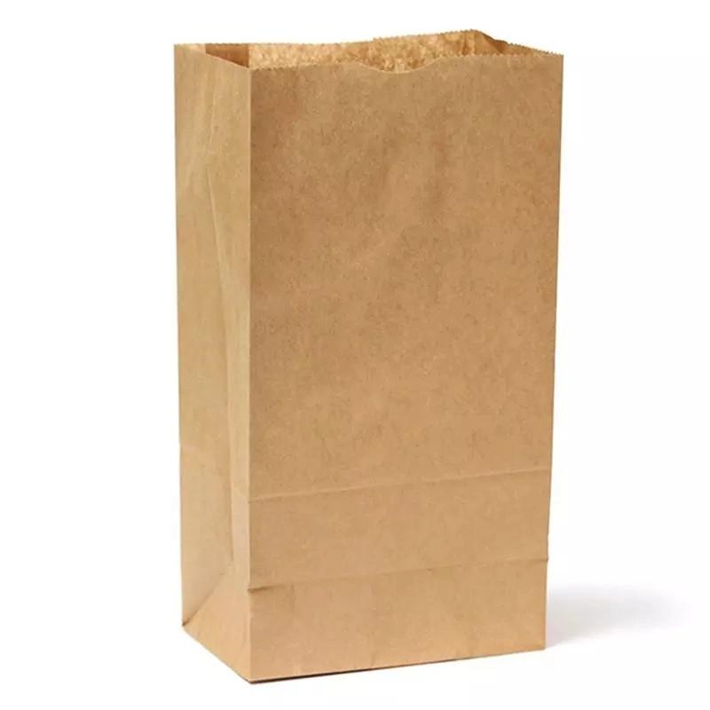 бумажный мешок пищевой бумажный мешок коричневый переработанный роскошный торговый супермаркет бумажный мешок