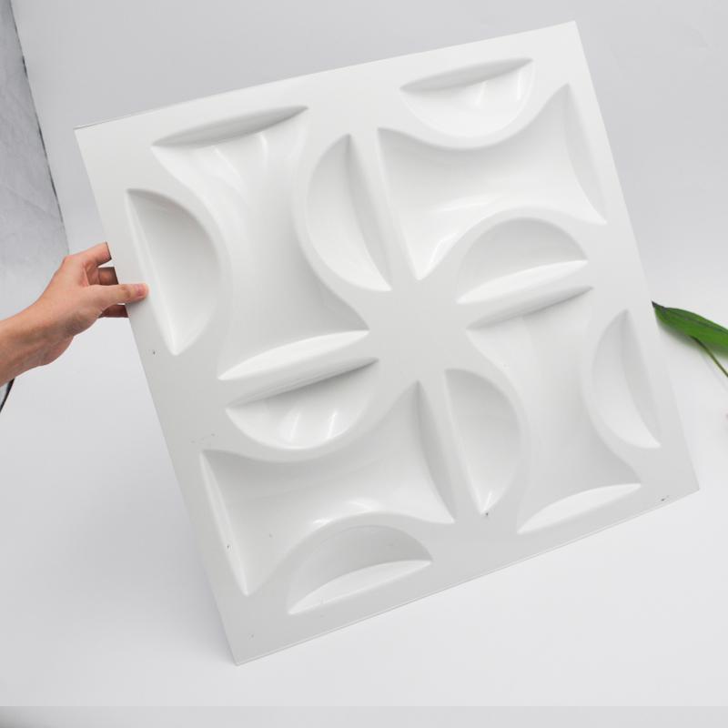 Самомоднейшая панель стены 3D PVC толщиной 1mm белая пластичная для нутряного украшения