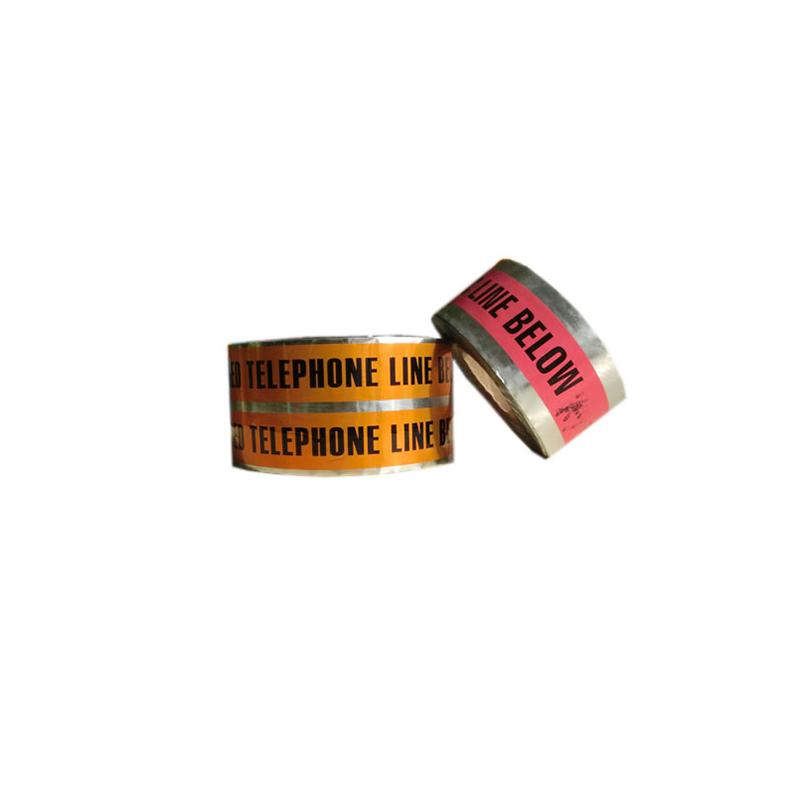 Производитель высококачественных ПВХ-заграждений для подземного обнаружения кабеля, предупреждающий о наличии алюминиевой фольги