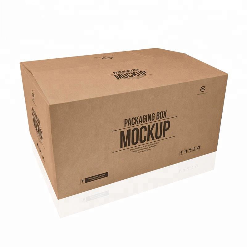 Горячие продажи на заказ большой 5 слоев логотипа бренда напечатаны крафт-бумага доставка доставка большая картонная коробка
