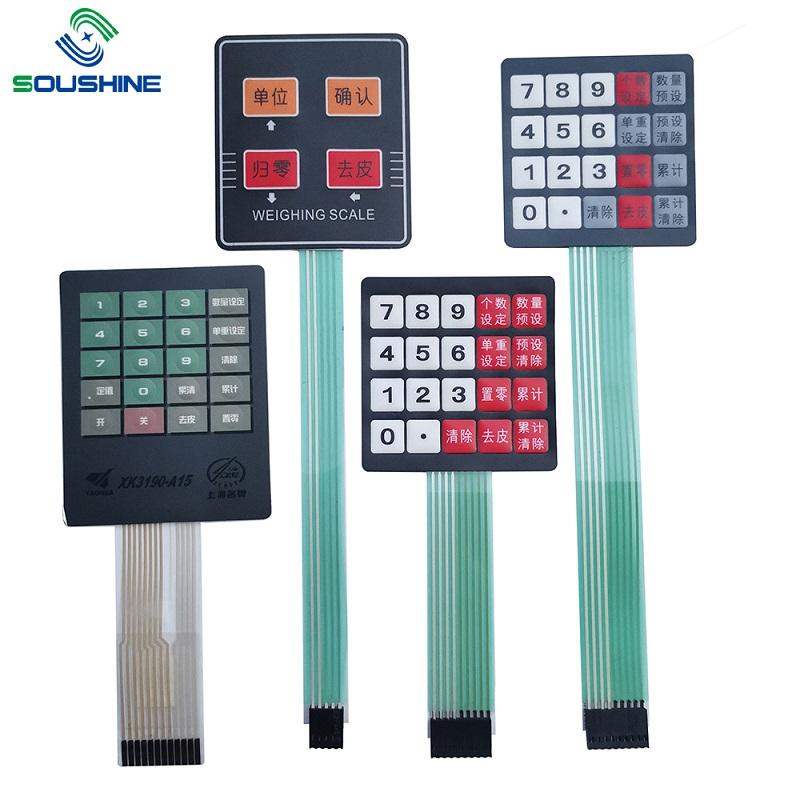 Настраиваемый мембранный переключатель / клавиатура весов