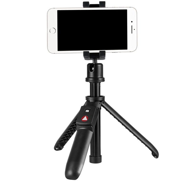 Мини-селфи KINGJOY с 5 секциями и складной ножкой, переходящая в штатив с управлением через Bluetooth