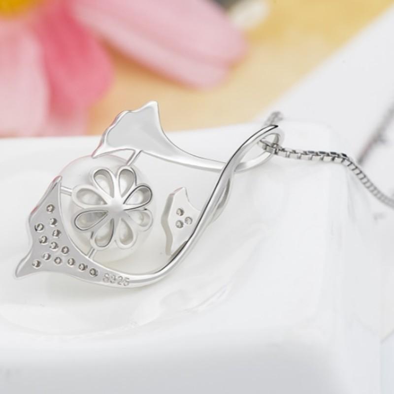 Русалка жемчужное ожерелье для женщин 14-каратного золота, стерлингового серебра 925 пробы