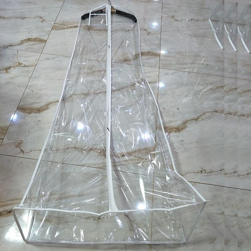 SGW06 Прозрачное ПВХ длинное свадебное платье с крышкой свадебное платье сумка для одежды