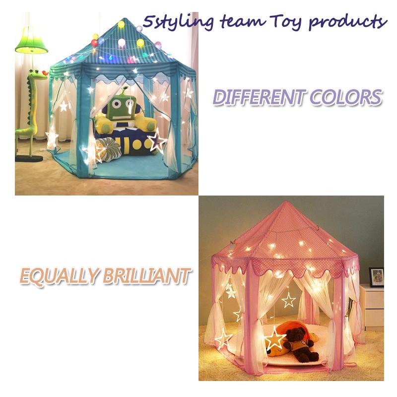 Детская палатка шестиугольная Принцесса Детская палатка крытая игровой дом Детская палатка Toy House со склада производителя