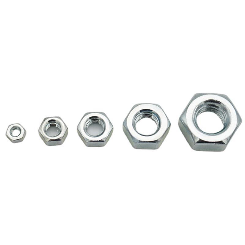 Высокое качество OEM ODM углеродистая сталь Оцинкованная шестигранная гайка